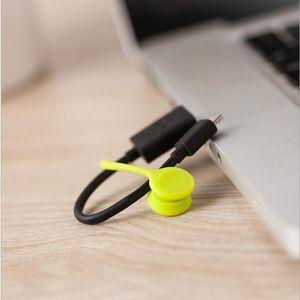 USB Titular Cable Strap Magnetic Organizador Reúna clipes Bookmark chaveiro Gestão Multifuncional de silicone fone de ouvido cabo Winder LXL61-1
