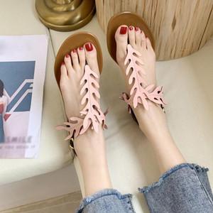 chaussures femmes Eillysevens été Boucle Sangle Chaussures plates Plage toes respirante Sandales Mode Zapatos de mujer #