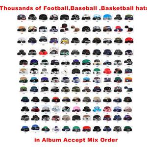 Vente en gros New Season American Hats Toutes les équipes de football Casquettes Casquettes de sport pour hommes Bon marché Femmes Snapback Hats Plus de 5000+ Styles Ordre Mix