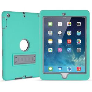 3 en 1 Militar extrema Forro protector del caso impermeable a prueba de golpes defensor para el iPad Mini 123 de aire ipad5 nuevo ipad 9,7 universal