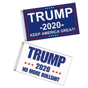 Trump Flag 2020 Keep America Great Again Banner Decor President USA Donald Trump Election No More Bullshirt Flag 3*5 feet 90*150cm 100pcs