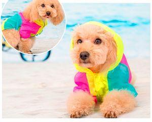 Yavru Hayvan Küçük Köpek Yaz Sweet Renk Dikiş Renkli Güneş Koruyucu Giysiler Klima Giyim Hoodied Coat Köpek ceket hafif