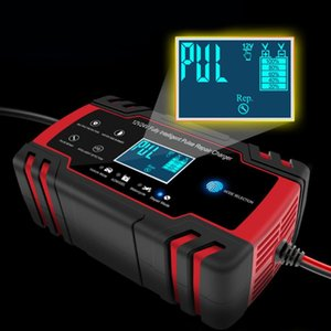 Car Battery Charger 12 24V 8A Touch Screen Pulse Repair Fast Power Charging Wet Dry Lead Acid Digital LCD Display Hot Sale