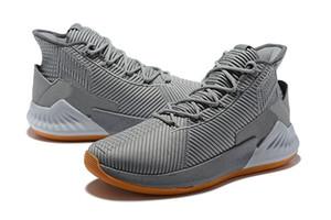D Gül satışı Üst Kalite yeni Derrick Rose Basketbol ayakkabıları için 9 Black Gold ayakkabı saklamak ücretsiz kargo US7-US12