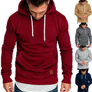 2019 Hoodies Men Fashion Hoodies Brand New Men Sweatshirt 남성 운동복 스포츠 풀오버 Solid Autumn Winter Hoodie 망