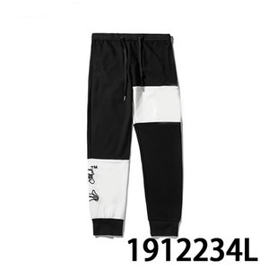 2019 New Arrival Mens Women Luxury Pants Brand Design Joggers Pants Track Cargo Pants Trousers Casual Style black cro 1912234L