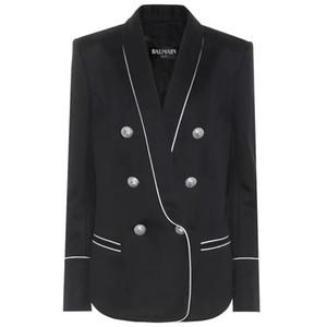 Balmain Noir Smokings Motif Slim Fit Or Costumes pour les femmes Laple Party Balmain Cheap Suit un Butto