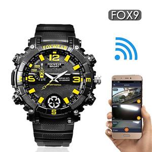 FOX9 Sports Outdoor Camera Watch Wifi remoto de Grande Capacidade Câmeras HD Pulseira LED IP67 Waterproof Assista relógio inteligente