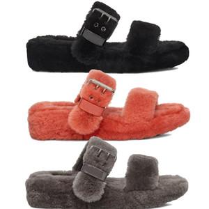 Kadın bulanık terlik Hausschuhe Ayakkabı kabarık terlik kürk g Kadın Terlikler jöle Slaytlar Kürklü Slaytlar Günlük Ayakkabılar womens Pantoufle'e