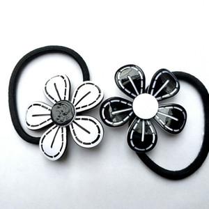 SıCAK Klasik 3D çiçek Saç Kravat oyulmuş C marks moda saç Aksesuarları koleksiyonu öğe Akrilik Saç Halat parti hediye