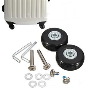 1 пара 45x18 мм чемодан колеса багажного отделения сменные колеса мосты делюкс ремонт резиновый дорожный багажник колесо черный с винтом