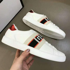 Novo Designer de Homens Sapatos 2019 Nova Marca Homens Mulheres Low Cut Branco Preto Couro Genuíno Casual Sapatos Baixos Moda Unisex Zapatillas Sneakers 35-