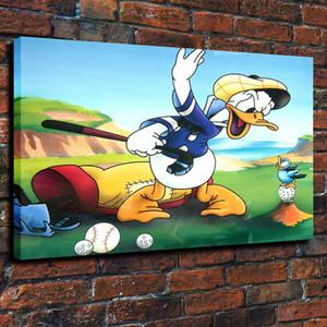 Ente Freizeitsport Home Decor Handbemalte HD-Druck-Ölgemälde auf Leinwand-Wand-Kunst-Leinwandbilder 191119