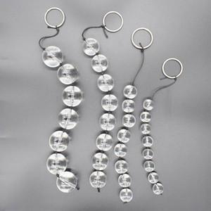 perles de cristal traction arrière en verre perles de glace jouets sexe anal adultes plug boule de verre gros plug anal