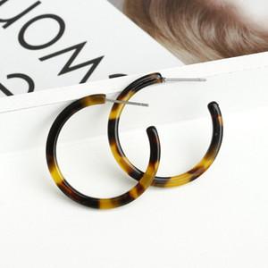 الاكريليك الراتنج البيضاوي استرخى أقراط للنساء كبيرة هوب القرط خلات brincos مجوهرات الأزياء الهندسة الأقراط دائرة كبيرة