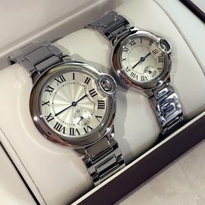 2019 Sıcak Satış Moda lady saatler adam / kadın kol saati gümüş Stainlesa Çelik klasik modeller Saatı Marka kadın / erkek saat ücretsi ...