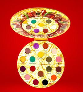 Più nuovo PIZZA IMEAGO 18 colori Ombretto palette 18 Deliziosi condimenti Luccichio opaco Contenente pennelli bronzi Palette Blush free