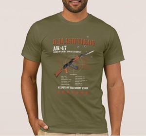 Rare Union Soviétique Armée Kalachnikov Gun russe T-shirt en coton O-cou à manches courtes T-shirt pour hommes Nouveau Taille de S-3XL