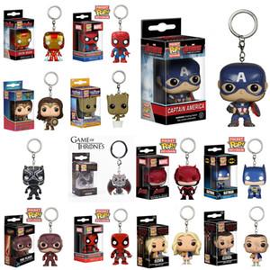 Funko pop brinquedos 14 Projetos 5 cm marvel avenger Funko Pop figuras de ação PVC chaveiros Boneca com caixa de varejo Crianças brinquedos presentes KSS29