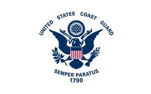 150 cm * 90 cm drapeau de la garde côtière des États-Unis 3 * 5FT Polyester personnalisé décoratif Hanging Home Flag pour la décoration