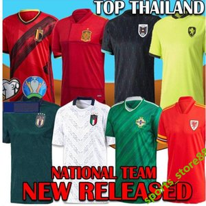 2020 EURO Northern Ireland Scotland Switzerland Wales Soccer Jersey Austria Muller Hungary Italy Sweden Belgium Spain Russia Czech footbaLL