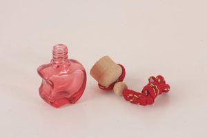 5ml Mini Apple Shaped Custom Glass Bottle Car Pendant Perfume Bottle 100PCS LOT