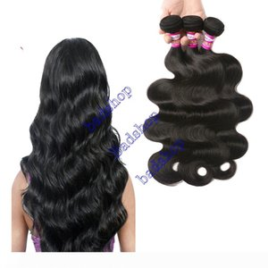 9A Brazilian Virgin Hair Body Wave Hair Extensions 3 Bundles 100% Human Hair Weave 100g Bundle 8-28 Inches Natural Color Factory Price