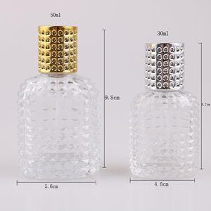 Botella de cristal con spray vacío con las botellas rellenables atomizador 30ml 50ml de piña de botella portable del perfume de cristal del aerosol T2I5813