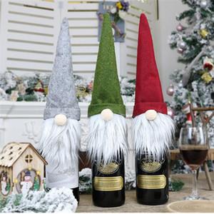 Caso Bottiglia di Natale senza volto bambola vino Nordic Terra Dio Babbo Natale Champagne bottiglia di vino Copertura della decorazione del sacchetto regalo