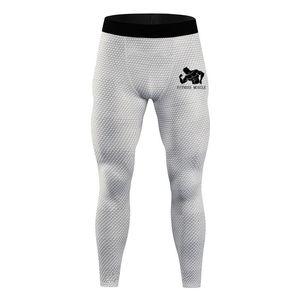 фитнес мышцы печати Мужчины Compression Плотные сухие брюки Леггинсы Gym Фитнес Быстрый Идущие Спорт Мужской тренировки Обучение Sweatpant