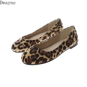 Scoop chaussures automne femme 2020 nouvelle version coréenne de la tête ronde chaussures plates léopard