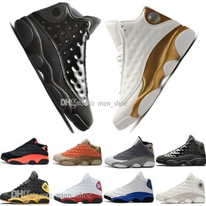 En Kaliteli 13 13 s Kap Ve Kıyafeti Terracotta Allık Erkek Basketbol Ayakkabıları Kedi Siyah Kızılötesi Flints Bred Erkekler Spor Sneakers Tasarımcı EUR 36-47