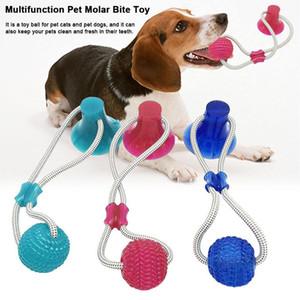 Mordre caoutchouc Toy Dog Pet Molar Balles Bite Chew Chew dents boule de nettoyage Safe Elasticité doux soins dentaires Balles Ventouse BH2840 TQQ