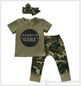 2020 Kids clothing explosion models cute baby boy girl family matching clothes coat + camouflage trousers designer clothes