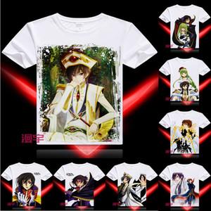 Maglietta Anime Code Geass Lelouch of the Rebellion Maglietta Manica corta multi-style Lelouch Lamperouge Cosplay Motivs Camicie Hentai