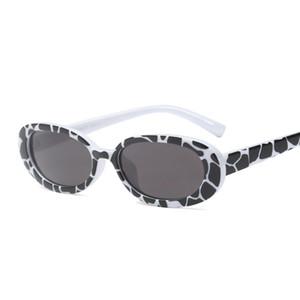 Kız Vintage Sunglasses Womens Küçük Oval Çerçeve UV400 Lens Vintage Güneş High-End İndirim Retro Gözlük