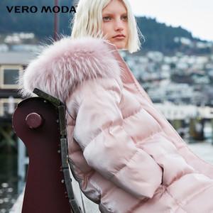 Vero Moda новый мех енота припуск длинный пуховик женщин T191024