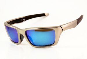 New Style Designer metal Júri Sunglasses Mens / Womens Marca Sports OO4045 Luxo 62 milímetros Óculos polarizados prata vidros azuis Iridium