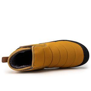 Men Boots Big Plus Size 36-48 High Quality Slip-On Men Shoes Velvet Warm Winter Boots Outdoor Waterproof Snow Boots Non-slip