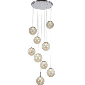 Moderno estilo europeu varanda varanda loja de roupas restaurante pingente de lâmpada Penthouse piso escada de cristal luzes pingente de lâmpadas decorativas