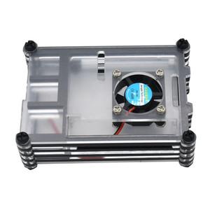 Pour Raspberry Pi 4 B Acrylic Case avec ventilateur de refroidissement, Raspberry Pi dissipateurs, pour Raspberry Pi 4 Modèle B