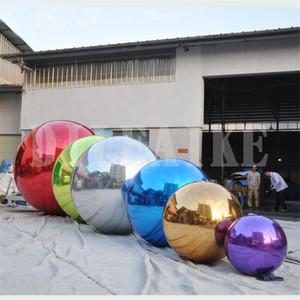 100cm Benutzerdefinierte Riesenfest PVC Aufblasbare Mirror Ball für das Marketing oder Eventdekoration Ballon-freies Verschiffen