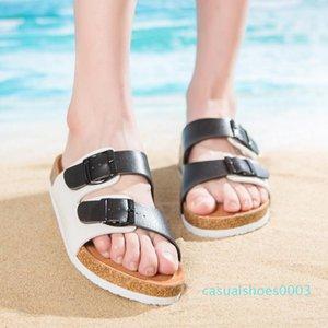Men Women New Beach Cork Flip Flops Slipper Casual Summer Mixed Color Slip on Sandals Couple Flat Shoe Plus Size c03