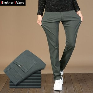 3 Colors 2019 Spring New Men's Casual Pants Elasticity Fashion Slim Fit Straight Trousers Male Brand Clothes Plus Size 42 44 46