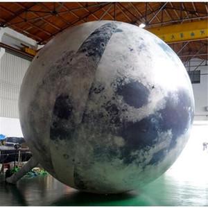 شحن مجاني 2M LED الإضاءة كوكب بالون الإعلان نفخ الكرة، العملاق الديكور نفخ بقيادة مون للعطلة
