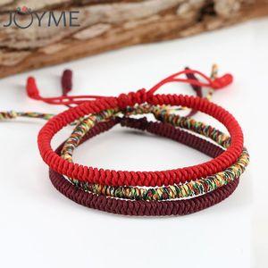 Chinese Lucky Red String Armband Männer Frauen Tibetische Buddha Gebet Handgemachte Yoga Komboskini Faden Armband Einstellbare Größe