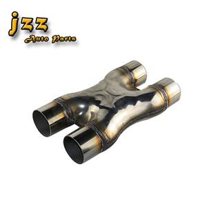 JZZ 63mm / 76mm de entrada de acero inoxidable universal coche X-tubo de escape modificado Loud