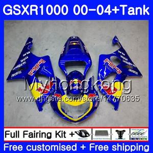+ Depósito para SUZUKI GSX R1000 GSXR1000 2000 2001 2002 2004 2004 299HM.40 GSXR-1000 K2 GSX-R1000 K3 GSXR 1000 01 02 03 04 Carenado amarillo rojo
