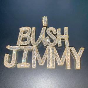 Destino Hip Hop Números Jóias Letters Homens Jóias Hip Hop pingente de colar feito com cristais Colar Custom Match