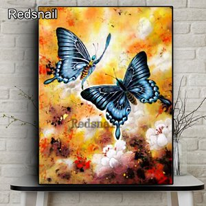 5D DIY Full Square Diamond Painting Animal Butterfly Mosaic Diamond Embroidery Decor Home Of Rhinestone Handmade decor TT288